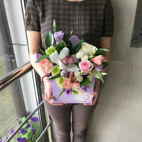 №297 конвертик с орхидеями и розами
