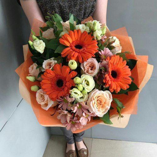 № 656  букет с герберами и розами