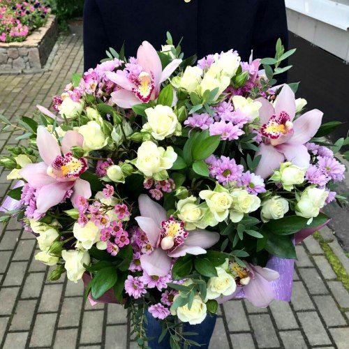 №320 букет с орхидеями