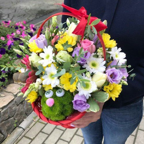 """№321игрушка из цветов """"Ежик"""""""