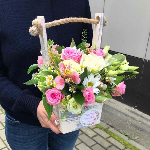 №323 ящик с розами
