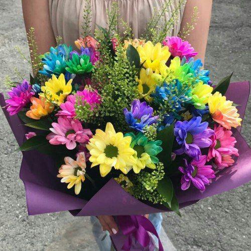 №341 букет с яркой хризантемой