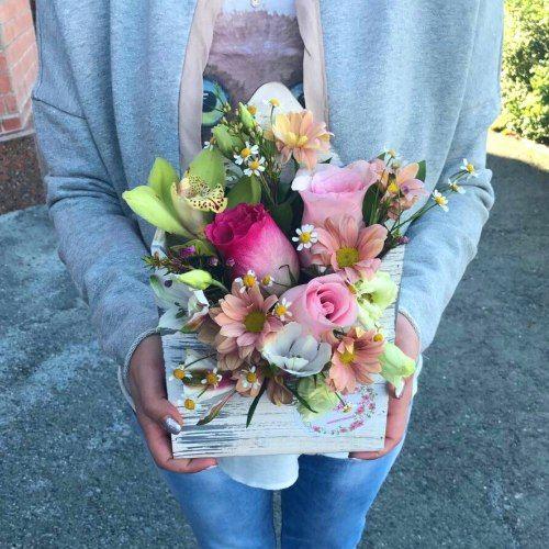 №383 конвертик с розами и орхидеей