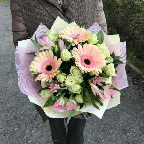 №409 букет с герберой и розой