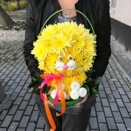 "№417 игрушка из цветов "" лева"""