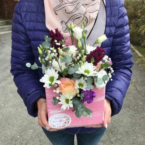 № 422 конвертик с розами и гиацинтами