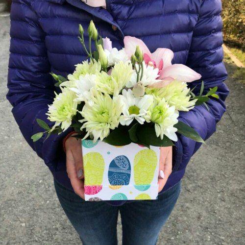 № 433 коробочка-комплимент с орхидеей