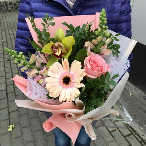 № 629  букет с герберой и розой