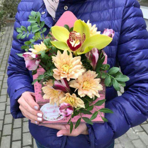№ 439 конвертик с орхидеей