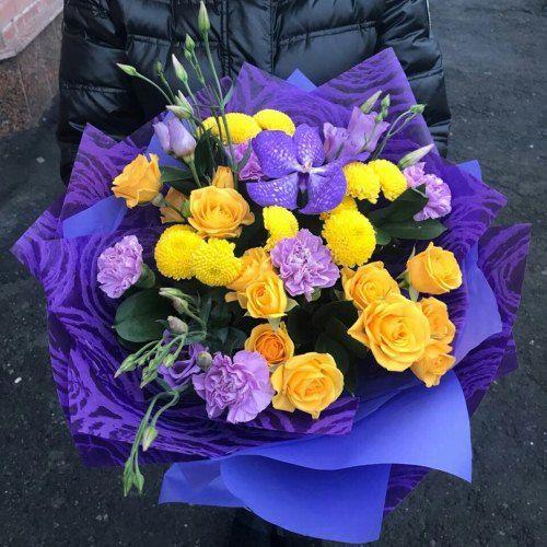№ 454 букет с орхидеей и розой