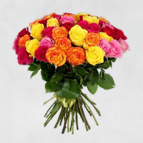 №9 акция 101 роза микс 50 см эквадор