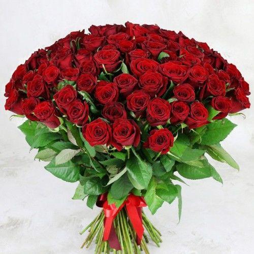 №3 акция 101 красная роза 50 см эквадор