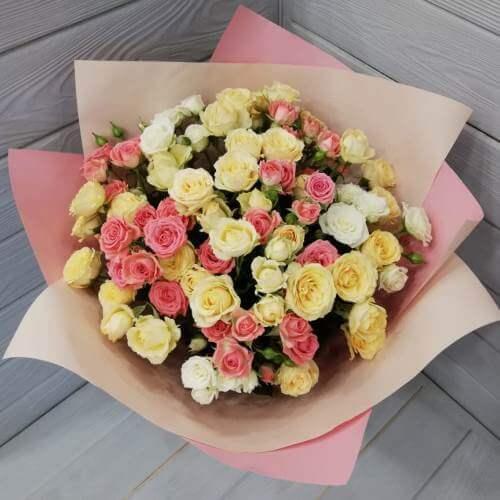 № 211 букет из кустовых роз