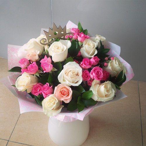 №27 букет с белыми розами