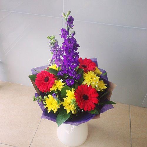 №94 букет с хризантемой и герберой