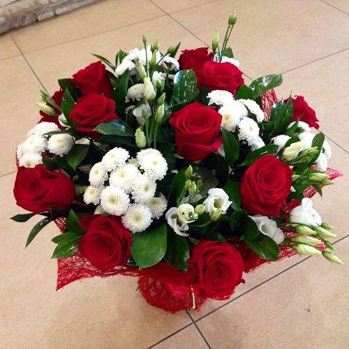 №22 букет из роз и хризантем