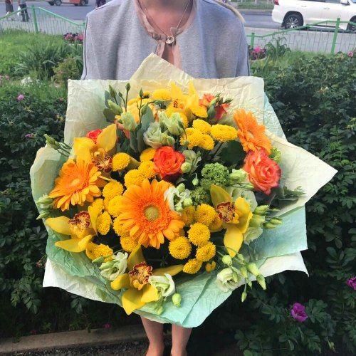 №271 букет с орхидеями и герберой