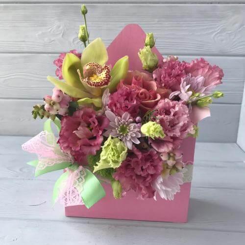 № 670 конвертик с орхидеей