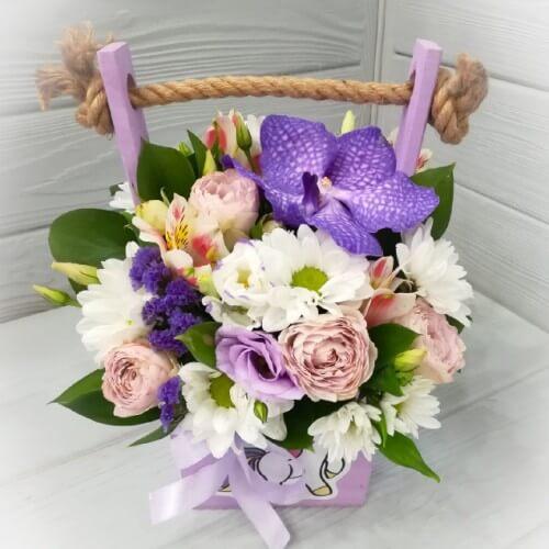 № 124 ящик с орхидеей