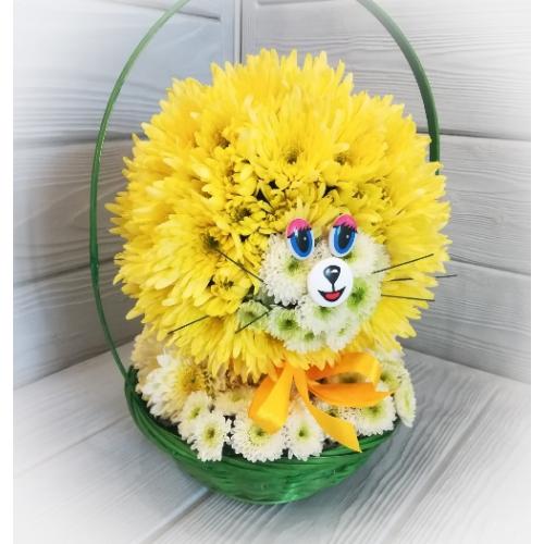 "№ 401 игрушка из цветов "" лева"""