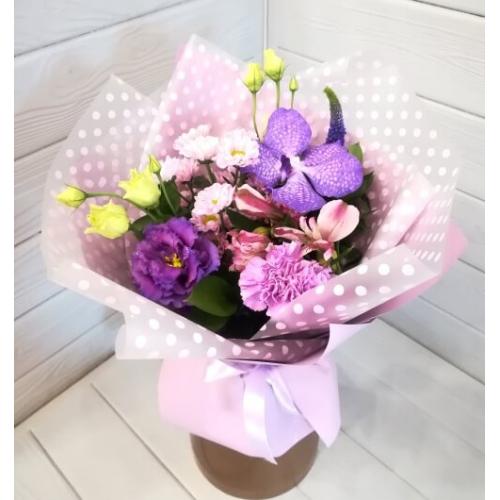 № 104 букет с орхидеей