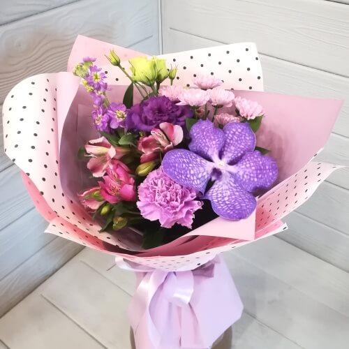 № 100 букет с орхидеей