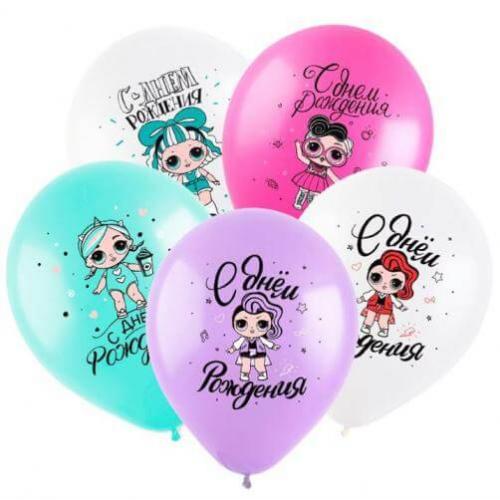 """№ 536 воздушные шары """" с днем рождения"""""""