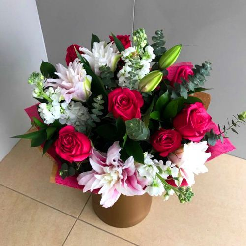 №212 букет с лилией и розами