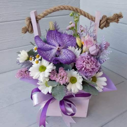 № 359 ящик  с орхидеей