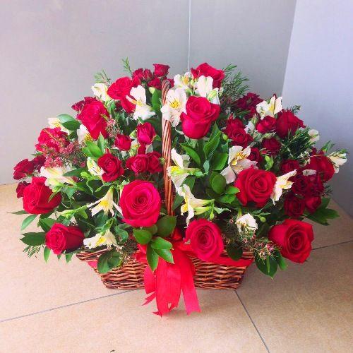 № 445 корзина из роз
