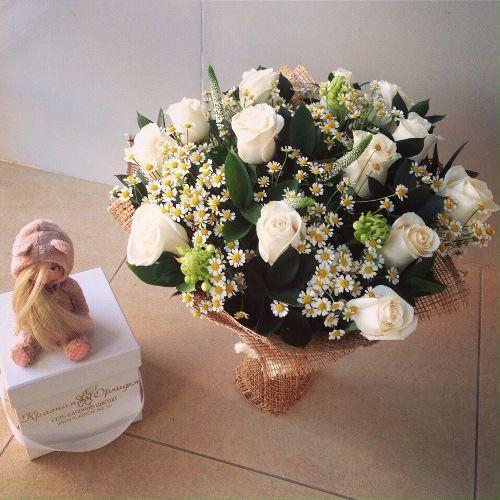 №196 букет с белыми розами