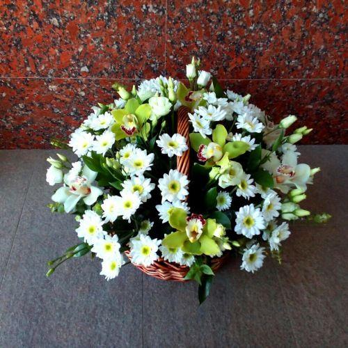 № 453 корзина с орхидеями