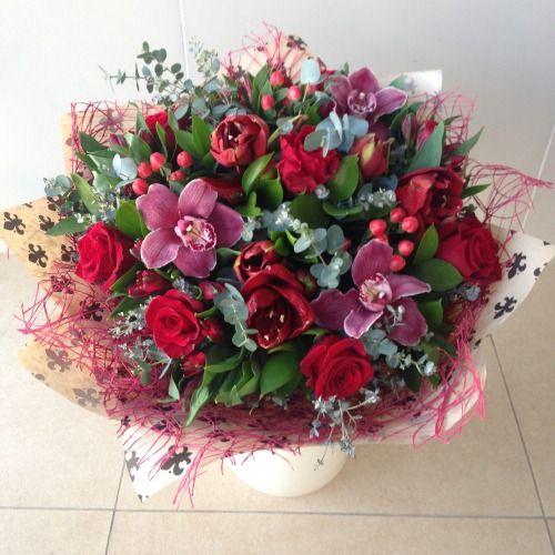 №72 букет с розами и орхидеями