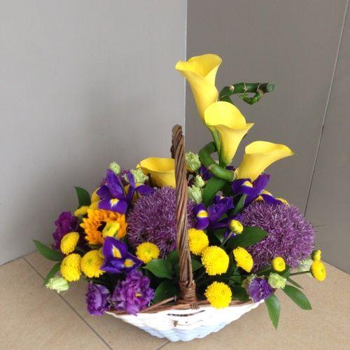 №125 корзина с экзотическими цветами