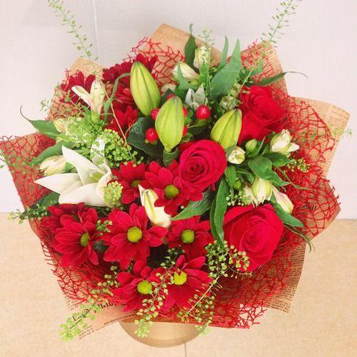 №54 букет с лилией и розой