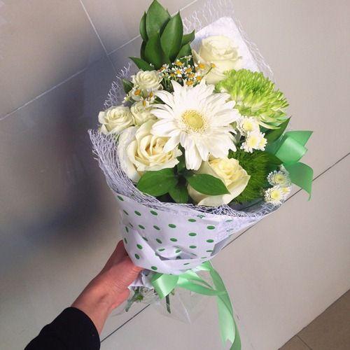 № 382  детский букет с герберой и розами