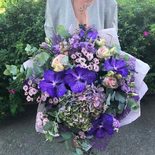 №284 букет с гортензией и орхидеей