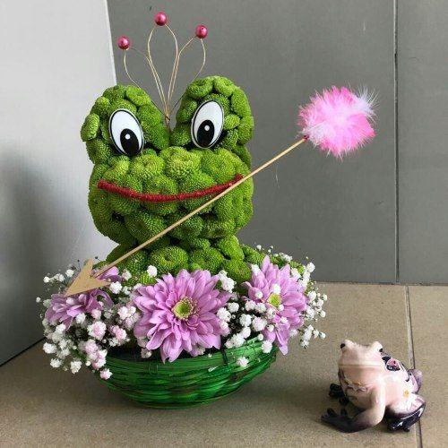 №236 игрушка из цветов лягушка