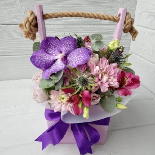 № 533 ящик с орхидеей