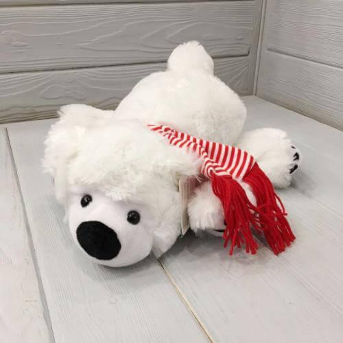 № 520 медведь в красном шарфе