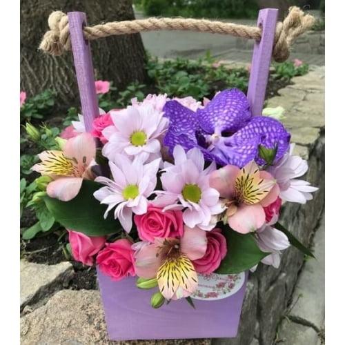 № 408 ящик с орхидеей
