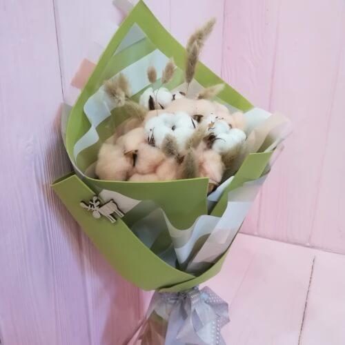 № 406 ящик с розами и гортензией