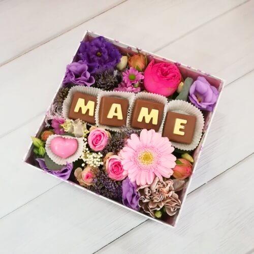 "№ 604 коробочка с шоколадом ""маме"""