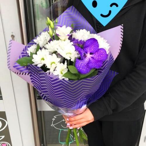 """№ 641 букет с орхидеей """"ванда"""""""
