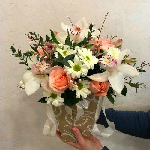 № 497 коробочка с орхидеями