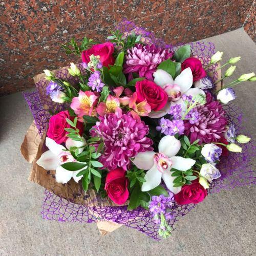 №252 букет из роз и орхидей