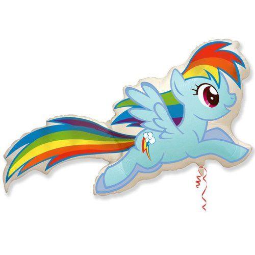 """воздушные шары """"пони радуга"""""""