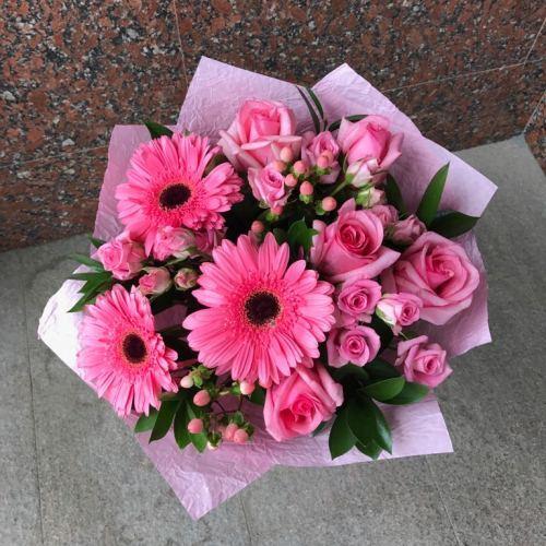 №84 букет с розой и герберой