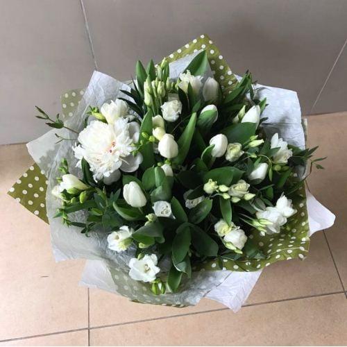 №254 букет с тюльпанами