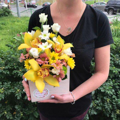 №288 ящик с орхидеями